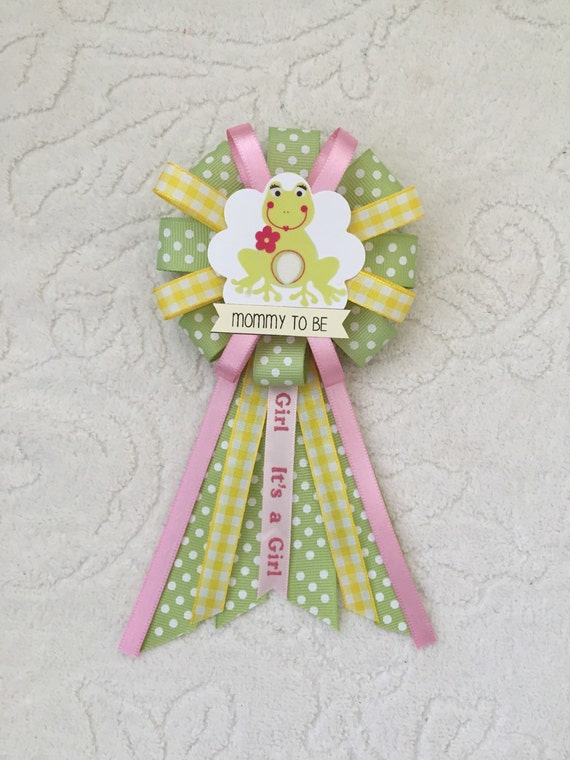 one mommy to be ribbon corsage for baby shower it 39 s a girl animals