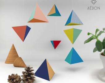 DIY tetrahedron poster set