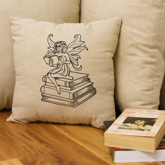 Decorative Reading Pillow : Reading Fairy Throw Pillow Pillow Cover Decorative Pillow