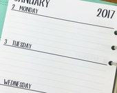 A5 2017 Weekly Horizontal printed planner calendar - Wo2P - week on 2 page - week layout - Monday through Sunday - #103-17