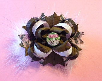 Pretty in Camo Stacked Boutique Bow