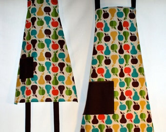 SALE! Apples and Pears Matching Mother/Child Apron Set