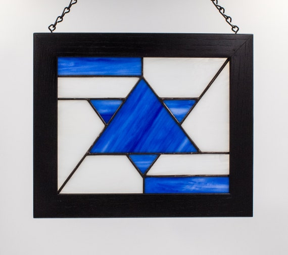 Glass Star Wall Decor : Star of david stained glass judaic wall decor by kolor waves
