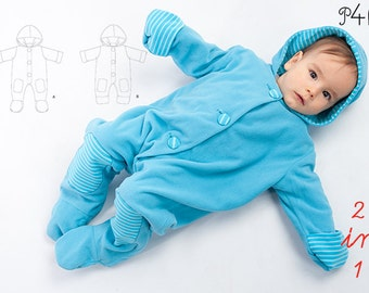 Baby Overall sewing pattern, romper jumpsuit pattern, one-piece, one piece pattern, toddler, sleep sack pattern