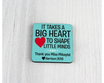 Personalised fridge magnet teacher appreciation gift