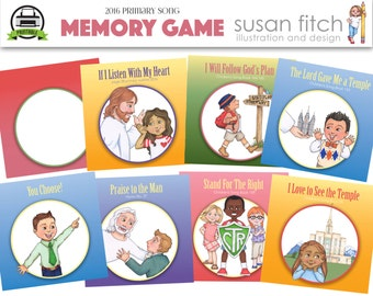 2016 Primary Song Memory Game Cards