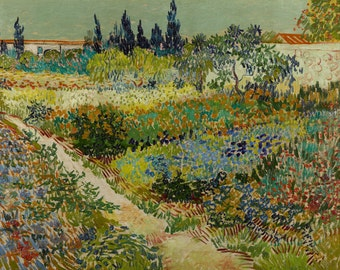 Garden At Arles by Vincent Van Gogh, various sizes, Giclee Canvas Print