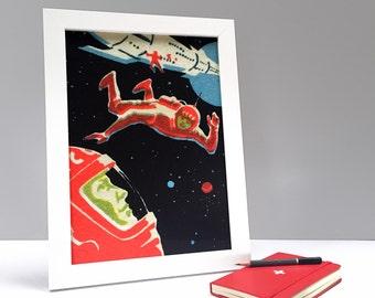 Space Walk Cosmonauts Print