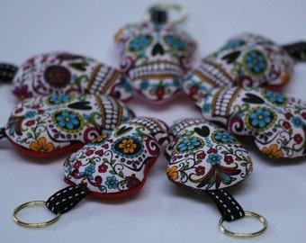 LOS MUERTOS skull Keyring/keychain