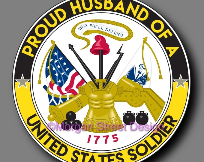 US Army Soldier Husband Die Cut Vinyl Decal Sticker