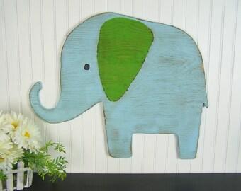 Wooden Elephant Wall Art Baby Elephant Nursery Decor Safari Nursery Decor Jungle Nursery Wall Art Elephant Decor Elephant Baby Shower Gift