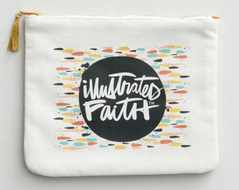 Illustrated Faith LIMITED EDITION Canvas Pouch, Pencil Case, Sticker organizer, Bible Journaling Kit, Dayspring