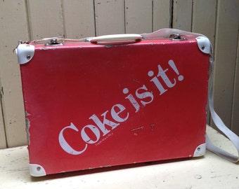 "Vintage ""COKE"" small suitcase / child's luggage"