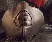 Motorcycle mask holler&hood Thunderbird hog nose/motorcycle leather mask/cafe racer mask/leather riding mask/Built for speed !!