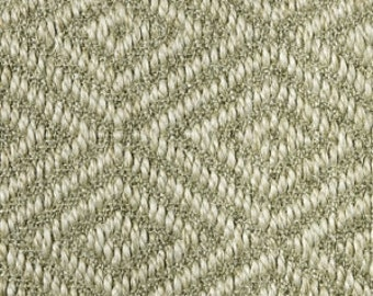 Light Beige Tone On Tone Multi-Diamond Patterned Sisal Area Rug in Sizes 5x7 And Larger by RugsThatFit