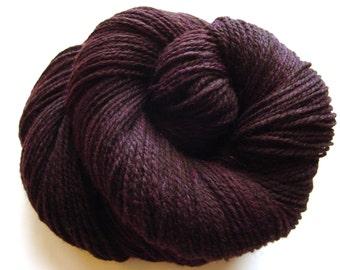 Purple Halo-- Hand combed, Handspun Corriedale 2 ply yarn, 378 yds, 3.5 oz