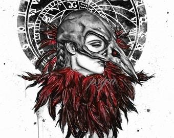Miss Raven art print by psyca