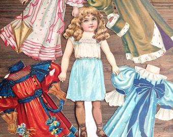 Set of Vintage Cut Out Dolls