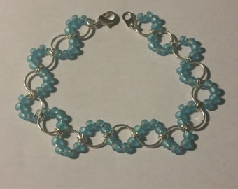 Beaded Sea Glass Bracelet