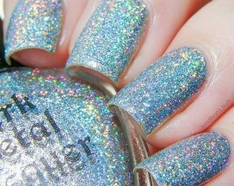 Whisper - ultra holo silver glitter polish (11ml)