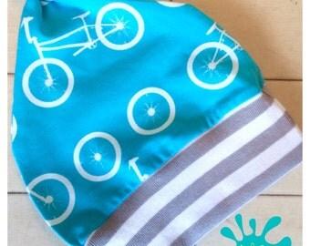 baby hat, newborn hat, organic baby clothes, baby boy hat, baby, bikes, baby clothing, newborn gift, baby gift, bicycles, newborn