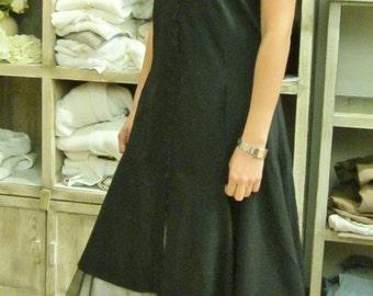 Dress woman, black color, bases tulle, Jeanne