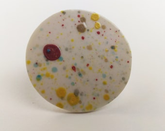 Freckled Porcelain Ring/Brooch
