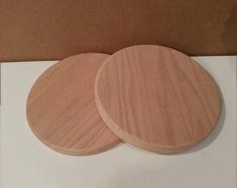 Wood Circles, 5 inch diameter, Solid Oak