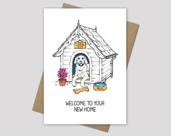 New home card, new home wishes, congratulations on your new home, housewarming cards, congratulations cards, illustrated cards
