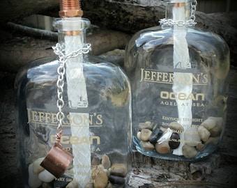 Pair of Jefferson's Ocean Bourbon Citronella Torches