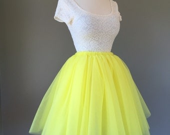 Charcoal Tulle Skirt Adult Bachelorette Tutu Gray