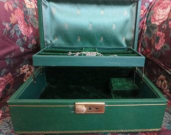Swiss Music Box, Swiss Jewelry Box, Jewelry/Music Box, Vintage Music Box, Vintage Jewelry Box, Vanity Item, Thorens Swiss Movement, Stardust