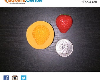 Strawberry Silicone Mold for Cakes, Cake Pops, Candy, Chocolate, Cupcakes & Fondant