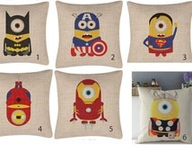 Minions throw pillows