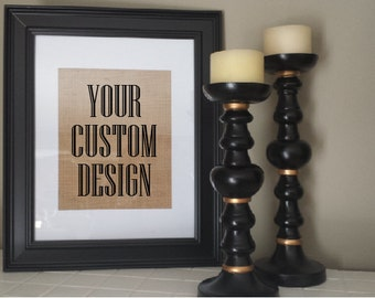 Fast Shipping!! Great Reviews! Custom burlap print for new home. Housewarming gift. New house. Housewarming party. Burlap wall hanging.