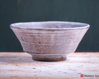 Chawan Tea Bowl with Frosty Fields Decoration - Stoneware Pottery