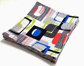Cloth Dinner Napkins | Eclectic Modern Art | Set of 4