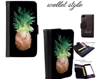 Pineapple Galaxy - case for iphone and galaxy smartphones - wallet - 4 4s 5 5s 5c 6 6s plus S3 S4 S5 S6 Edge Note 3 4 5