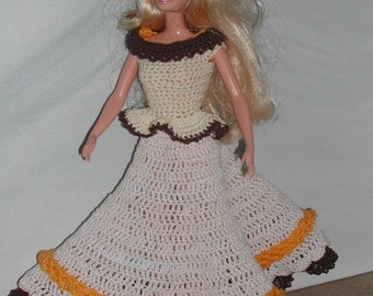 Crochet Fashion Doll Barbie Pattern- #694 MISS PARTY GIRL