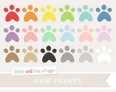 Paw Print Clipart, Footprint Clip Art, Dog Clipart, Cat Clipart, Foot Print Clipart, Animal Cute Digital Graphic Design Small Commercial Use