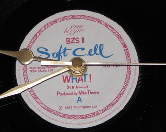 "Soft Cell What !  7"" vinyl record clock"