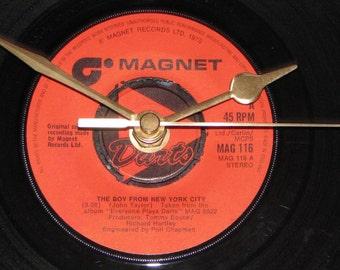 "Darts the boy from new york city  7"" vinyl record clock"