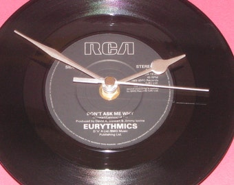 "Eurythmics don't ask me why 7"" vinyl record clock"