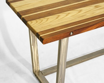 Mahogany, Ash & Steel - Mid-century Modern Desk