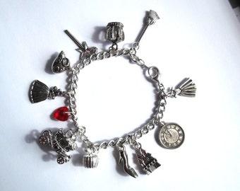 Cinderella Charm Bracelet with vintage charm