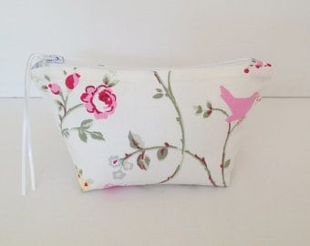 Bird Trail Cosmetic Bag, Make Up Bag, Pouch