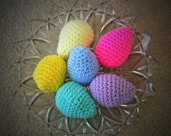 6-pack Crochet Easter Eggs