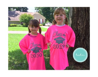Class of 2029 2030 2031 2032 2034 Shirt   Adult Size Class of Shirt Grow Into   customizable Class of 2030 Top   Boys or Girls Keepsake