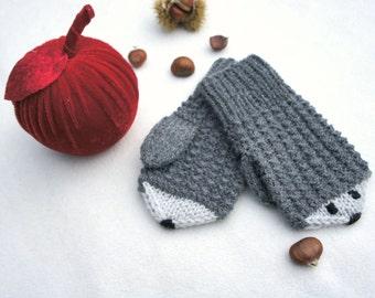 Free Knitting Pattern For Hedgehog Mittens : Hedgehog mittens Etsy