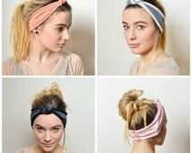 SET adult headband, adult headband woman, namaste headband, boho headband, headbands for women, knot headband, yoga headband, black headband